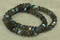 Cylindrical Labradorite Rondelles