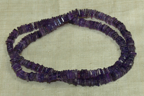 "Strand of Square Amethyst ""Slices"""
