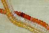 Very Pretty Strand of Lightweight, Faceted Mexican Fire Opal