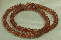 Beautiful, Smooth Sunstone Rondelles