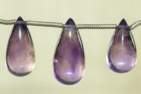 Smooth Amethyst Teardrop beads