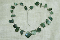 Funky Shaped Emerald Pendants