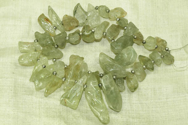 Smooth Chunky Aquamarine Beads