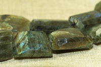 fiery and Faceted Chunky Labradorite Beads