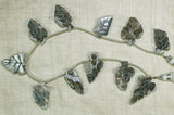 "Mossy Green Agate ""Leaf"" Beads"