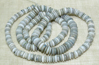 White, Beige, Grey Opal Disc Beads