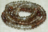 Reddish-Brown Zircon 5mm Rondelles