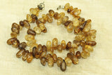 Super cool Heat-Treated Brown Crackle Quartz Beads