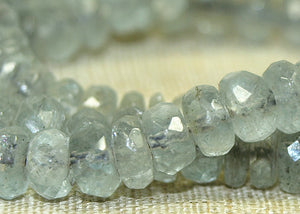 Grey-Blue Aquamarine Rondells