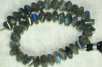 Strand of Faceted Labradorite Pillow Beads
