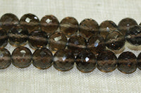 Faceted 7mm Smokey Quartz Rounds