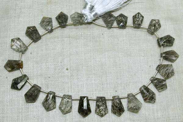 Funky Faceted Rutilated Quartz Small Pendants
