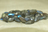 Strand of Chunky Faceted Labradorite beads