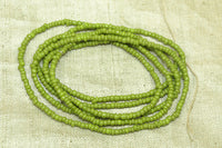 Light Olive Green Opaque Seed Beads, 11º