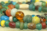 Ancient Chinese Multi-Color Glass Beads