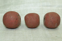 Large Brick Red Majapahit Bead