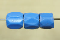 Faceted Russian Blue Trade Bead