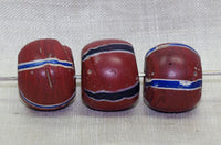 Brick Red Round King Bead