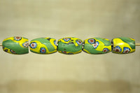 Set of five Venetian glass beads with starburst
