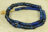 Strand of Large Russian Blue faceted beads