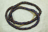 Blue, Red, White Eja Beads; 22