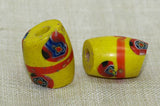 Pair of Yellow Antique Venetian Beads