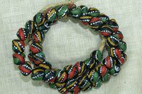 New Rasta Colors Glass Beads from Ghana
