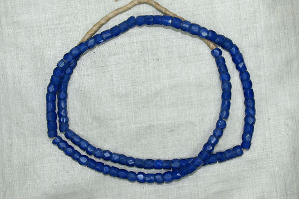 Russian Blue, Hand Faceted Glass Beads