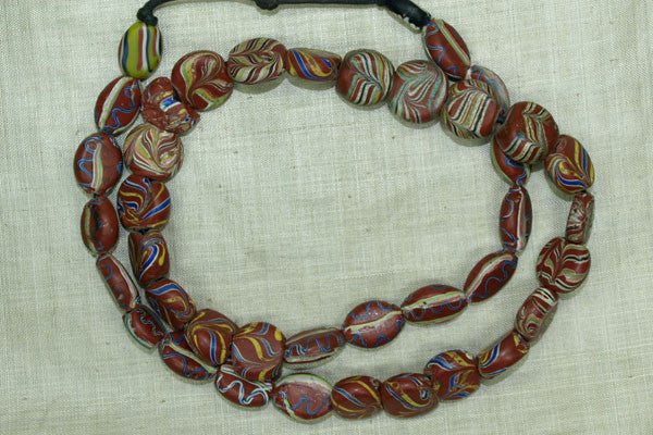 Mixed Strand of Old Venetian Tabular Beads