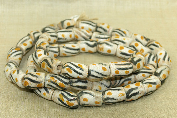 Funky Vintage Sand Beads from Ghana
