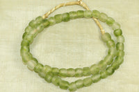 Two Tone Green Recycled Glass Beads