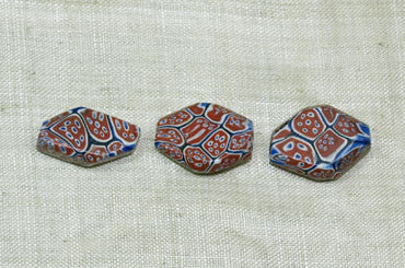 Millefiori Trade Beads, Tabular