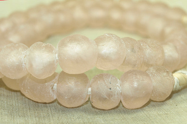 Light Pink Glass Beads from Ghana