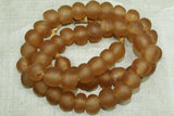 New Peach Glass Beads from Ghana