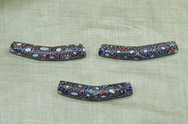 Late 1800s Millefiori Elbow Bead