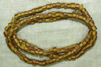 Antique Yellow and Red Venetian Beads