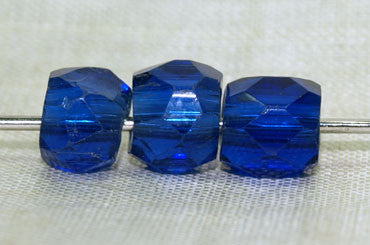 Vibrant Cobalt Blue Faceted Glass Bead