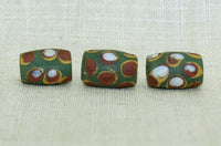 Antique Venetian Green Glass Beads
