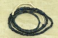 Strand of Dusty demim Blue Roman Glass Beads
