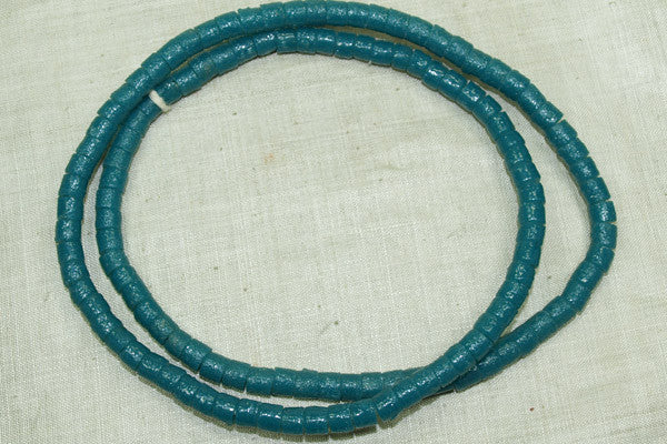 "Blue-Green Glass ""Sand"" Beads"