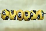 Antique Venetian Yellow Tire Beads, set of Six
