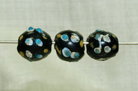 Blue Bumpy Venetian Glass Eye Bead