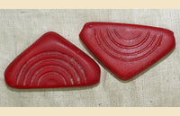 Czech-Made Glass Shell Traded in Mali, Red