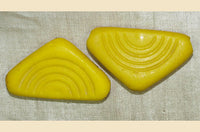 Czech-Made Glass Shell Traded in Mali, Yellow