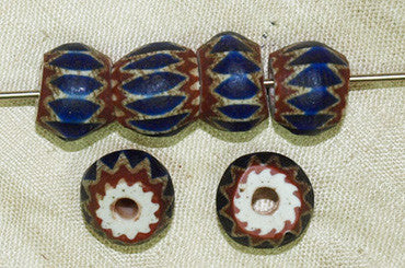 Four Layer Chevron Glass Beads