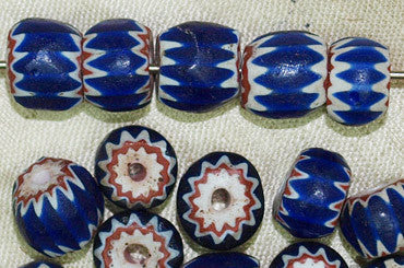 Four Layer Venetian Chevron Beads