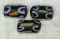 Black Venetian Bead with Squiggles