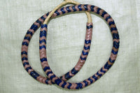 Glass Snake Beads, Light Pink and Royal Blue