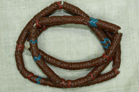 Brick Red Glass Snake Beads