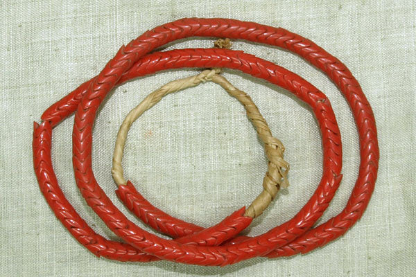 Small Red-Orange Snake Beads